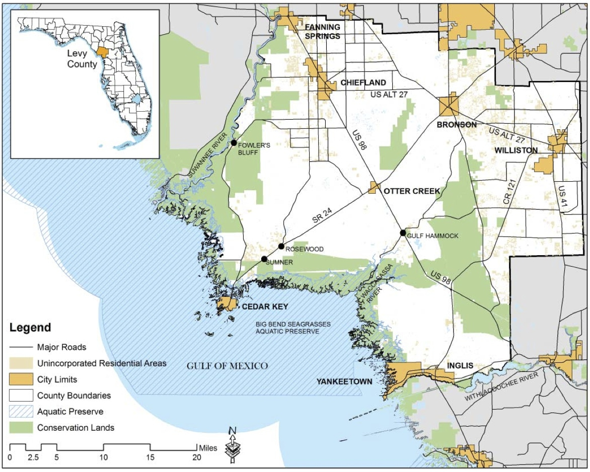 Planning For Coastal Change In Levy County A University Of - Yankeetown florida map
